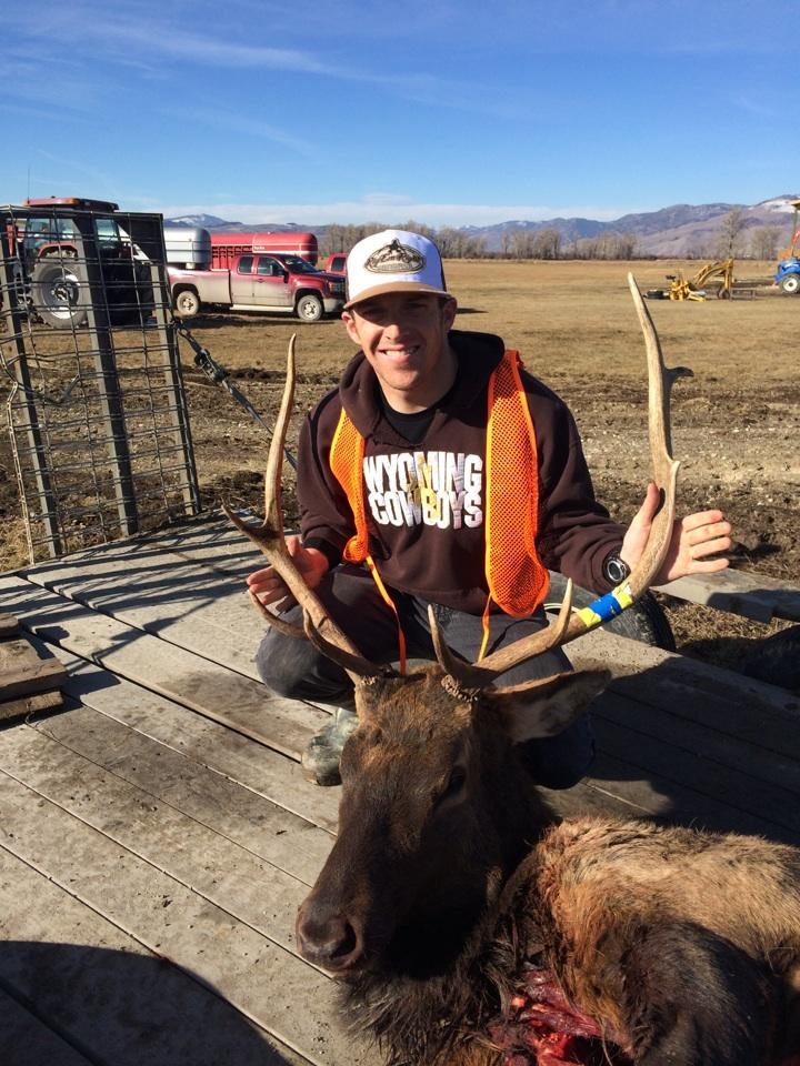 Kyle McCall with his first elk!